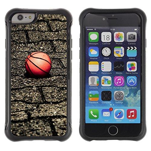 Graphic4You Basketball Korbball Spiel Sport Thema Design Shockproof Anti-Rutsch Weichen Hülle Case Tasche Schutzhülle für Apple iPhone 6 / 6S Design #2