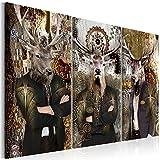 murando - Bilder Tiere Hirsch 135x90 cm Vlies Leinwandbild 3 Teilig Kunstdruck modern Wandbilder XXL Wanddekoration Design Wand Bild - Abstrakt Design g-A-0135-b-f