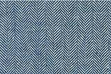 Blau/Weiß 100% Flachs Leinen Stoff Meterware–Breite