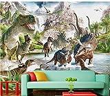 Wapel Home Dekoration 3D Raum Tapete Modernes Wohnzimmer Tapete Jurassic Dinosaur World Custom Fototapete Seidenstoff 250x175CM