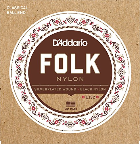 D'Addario EJ32  Folk-/ Konzertgitarre Saiten Satz Ballend 028' - 045'