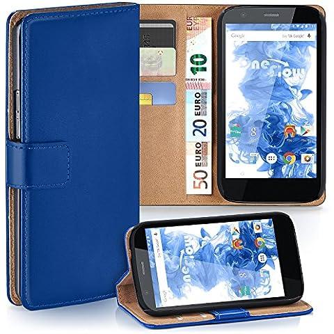 Bolso OneFlow para funda Motorola Moto G (1.Gen) Cubierta con tarjetero | Estuche Flip Case Funda móvil plegable | Bolso móvil funda protectora accesorios móvil protección paragolpes en