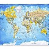 murando - Fototapete 150x105 cm - Vlies Tapete - Moderne Wanddeko - Design Tapete - Wandtapete - Wand Dekoration - Weltkarte Karte Kontinente k-A-0109-a-a