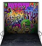 CapiSco Fotohintergrund Fotografie Stoffhintergrund Stoff Hintergrund Fotostudio Graffiti 1,8 * 2,7m TG02B