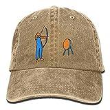 Archery Clip Art Yarn-Dyed Denim Adjustable Unisex Baseball Cap for Men or Women