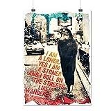 Solitaire Stoner Ville Animal Oiseau Femme Matte/Glacé Affiche A2 (60cm x 42cm) | Wellcoda