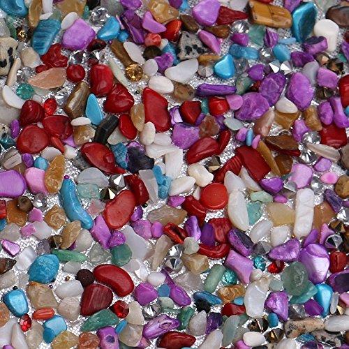 61StckKQH0L - Kentop Bolsas de Embrague para Mujer con Piedra Incrustada Coloreado Bolso de Noche para Boda Partido Fiesta