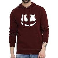 WearIndia Unisex Marshmellow Printed Cotton Hoodies Sweatshirt for Men and Women/Printed Red Hoodie/Graphic Printed Hoodie/Hoodie for Men & Women/Warm Hoodie/Unisex Hoodie