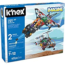 KNex Imagine Turbo Jet 2 en 1 Set de construcción para Edades 7 +