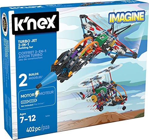 K'NEX 33942 - Building Set - Turbo Jet 2-in-1 - 402 Pieces - 7+ - Bau- und Konstruktionsspielzeug - Hubschrauber Nerf