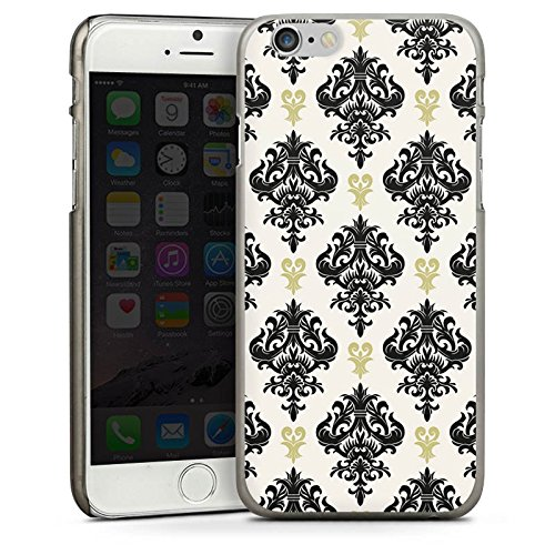 Apple iPhone 5s Housse Étui Protection Coque Ornements Motif Motif CasDur anthracite clair