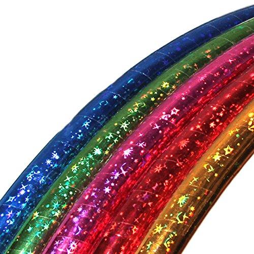 Hula Hoop per Bambini, Colori Stellari, Ø60cm, Rosso