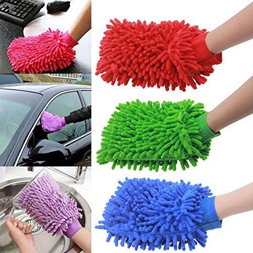 nexxatm Super Auto Waschhandschuh–50Kärtchen, jeweils Chenille Mikrofaser–Dynamic Mikrofaser Reinigungstuch Staub, Wäschen, und reinigt Ihr Zuhause, Küche, Bad, und Auto–verschiedene Farben