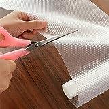 Funwill armadio cabinet ripiano cassetti EVA trasparente non adesiva, tappetino antiscivolo & # xFF08; a forma di lacrima & # XFF09; 150 * 30cm EVA transparent
