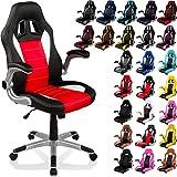 """RACEMASTER® Racing chaise de bureau """"GT Series"""", accoudoirs pliables, Fauteuil de bureau couleur noir / rouge / blanc Chaise Gamer"""