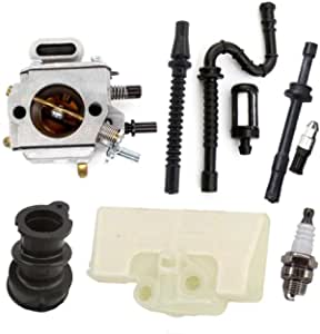 Aisen Vergaser Für Stihl Ms290 Ms310 Ms390 029 039 Mit Luftfilter Ansaugstutzen Benzin Öl Schlauch Filter Kit Baumarkt