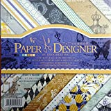 "CraftDev 7""x7"" Inch Beautiful Pattern Design Printed Papers for Art n Craft, Decorative Card Making"