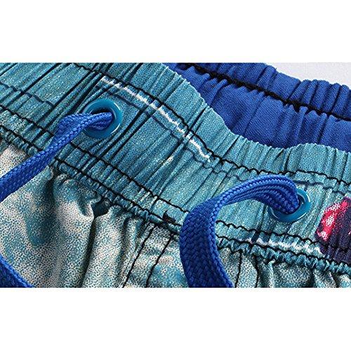 Pantaloncini da Bagno - Uomo Leisure Shorts Pantaloni corti da Surfe Verde scuro