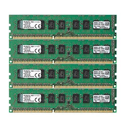 Kingston D1G72K110K4 Arbeitspeicher 32GB (1600MHz, PC3-12800, 4x 8GB) DDR3-RAM Kit