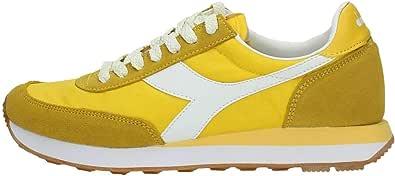 Sneakers Donna SS 2019 Koala H, in Pelle Scamosciata, Stringata, Logo a Contrasto, Plantare Estraibile, Suola in Gomma, Giallo limone, 37 EU
