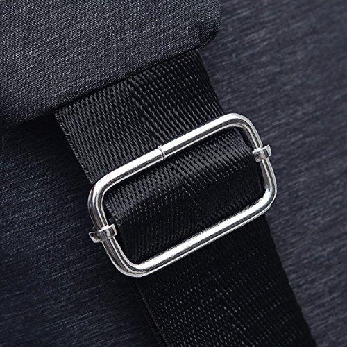 Unisex Convenient Wilde Leichte Qualität Nylon-Riemen-Beutel Umhängetasche Brusttasche Blue1