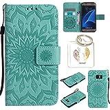 Produkt-Bild: für Samsung Galaxy S7 Geprägte Muster Handy PU Leder Silikon Schutzhülle Handy case Book Style Portemonnaie Design für Samsung Galaxy S7 + Schlüsselanhänger?/*21? (1)