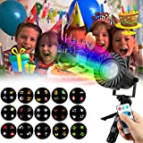 Christmas Lights Projector OKPOW 15pcs Color Slide Show Projection Home Decor Light for Christmas Halloween Party Birthday Other Holiday Celebrations