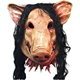 Milopon Halloween Maske Gruselige Latex Halloween Cosplay Scary Erschreckende Schwein Form Maske Horror Adult Kostüm Zubehör 22 * 30cm