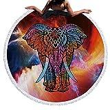 Sunroyal Rund Mandala Tapestry Boho strandtuch Handtücher Beach Towel Hippie Wandbehang Yoga mat Badetuch Reisehandtuch