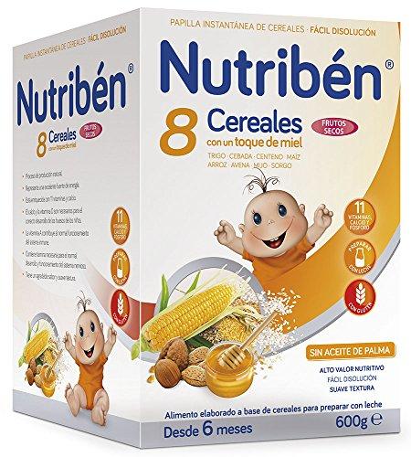 Nutriben Papilla 8 cereales toque miel frutos secos