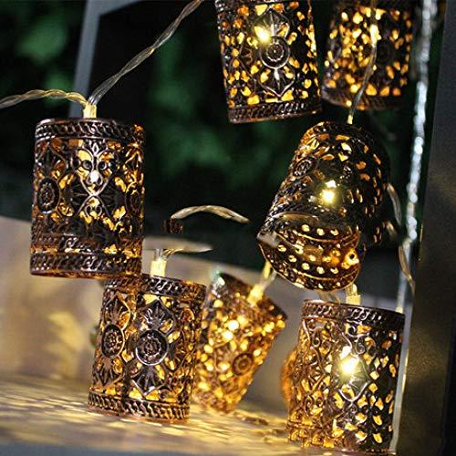 Rwdacfs LED-Batteriekasten Weihnachtsbeleuchtung, Laternen mit Lichtern verziert, in Gärten, Pavillons, Partys, Terrassen usw. verwendet