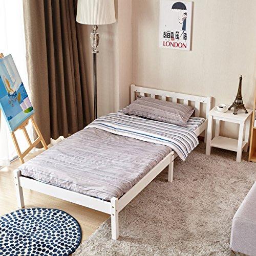 Struttura letto singolo matrimoniale in pino/bianco letto singolo white