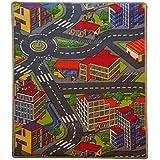 Alfombra infantil de juego–Alfombra (120x 80cm, parte carretera para ser habitación de los Niños