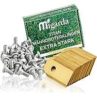 Migarda Titan-Klingen - [30x] Hochwertige Ersatzmesser & verbesserte Schrauben für maximale Langlebigkeit - für alle Husqvarna Automower Messer & Gardena Mähroboter inkl. eBook