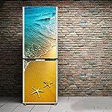 Tür Kühlschrank Aufkleber DIY 3D Schrankabdeckung Selbstklebend Wandtattoo Flur Wandgemälde Schlafzimmer Wohnzimmer,60*150Cm(23.6''*59'')
