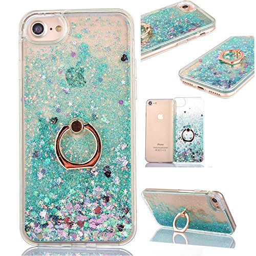 Flüssige Neo Silikon Hülle Kreativ Design 3D Transparent TPU Dynamisch Bling Diamond Sequins Tasche Handyhülle Glitter Glitzer Sparkle Ultra Dünn Plastik Gel Crystal Bumper für iPhone SE/5S/5