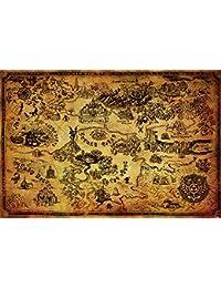 Légende De Zelda Affiches Hyrule Carte 61 x 91,5 cm
