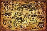 Grupo Erik PP33716 Poster The Legend Of Zelda (Hyrule Map), carta, Multicolore, 91 x 61,5 x 0,1 cm