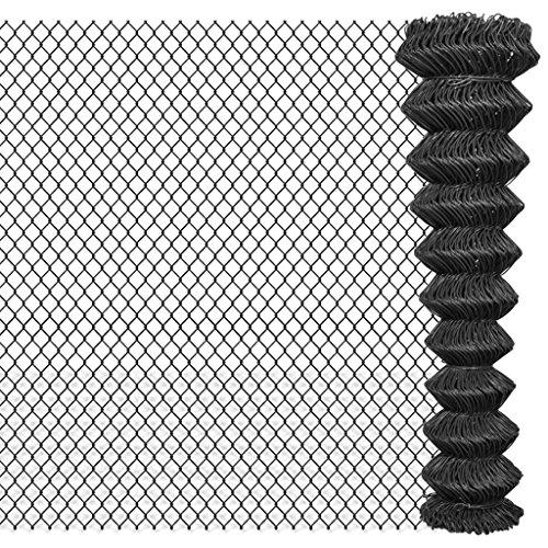 vidaXL Clôture Grillagée Clôture à Mailles de Jardin 15 x 1,95 m Acier Gris