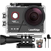 LeadEdge A20 Action Cam 4K 20MP EIS Anti-Shake Microfono Esterno WiFi 2.0 IPS LCD Lente Grandangolare di 170 ° Il…