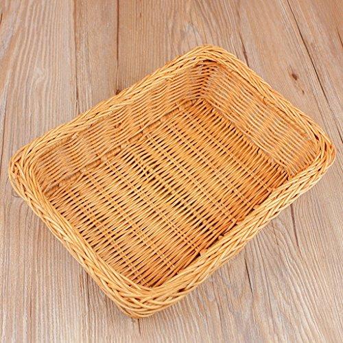 Früchtekorb XM ZfgG Gelber Bambus-Rattan-Speicher-Korb-Umweltfrucht-Körbe Handgewebte Hauptbambus-Korb-Frucht-Körbe, 33 * 19 * 8cm (Rattan-speicher-körbe)