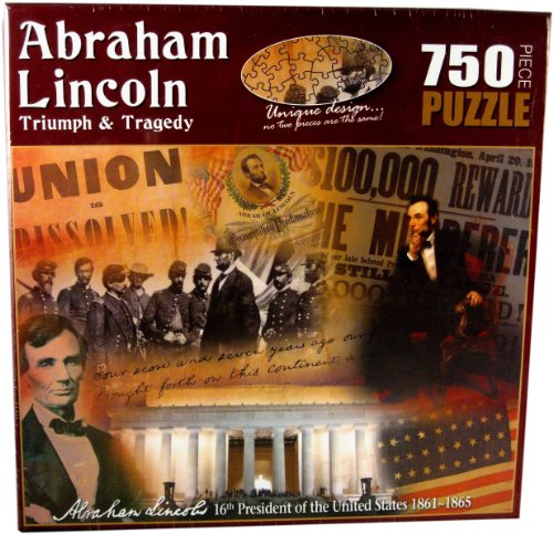 American History Abraham Lincoln Triumph and Tragedy Jigsaw Puzzle (750-Piece)