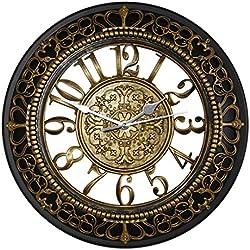 Foxtop 30 cm Reloj de pared antiguo retro de la resina del estilo de la vendimia, reloj de pared silencioso creativo para la cocina
