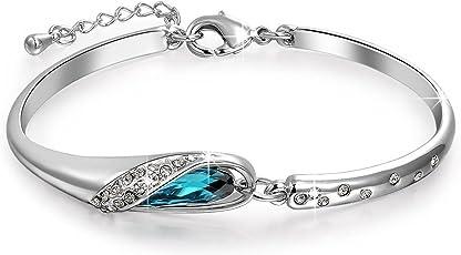 Valentine Gift By Shining Diva Bracelet for Women (Blue)(vg5956b)