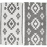 [Patrocinado]Bersuse 100% Algodón - Palenque Toalla Turca - Certificado OEKO-TEX - Fouta Peshtemal para Baño en la Playa - Pestemal de Diseño Etnica Mano - 100X180 cm, Negro