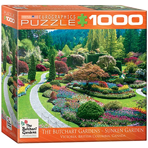 Preisvergleich Produktbild Eurographics Puzzle 1000 Pc - Butchart Gardens, Sunken (8x8 box) (MO) - (EG80000700)