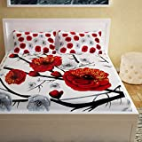 Story@Home 152 TC 100% Cotton 1 PC 3D Double Bedsheet with 2 Pillow Covers, White