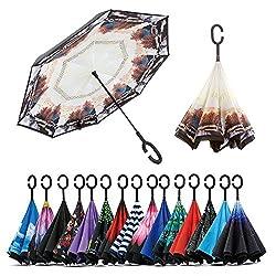 Jooayou Paraguas Invertido Doble Capa