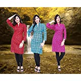 Thari Choice Designer Printed Party wear Cotton Combo Kurti For Women (Ready made Kurti)