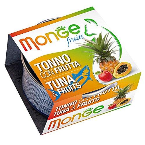 Monge - Cibo Per Gatti, Tonno con frutta, 80 grammi, 1 Lattina